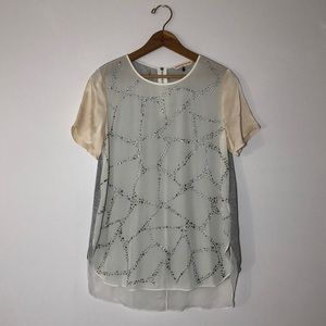 Rebecca Taylor Studded Silk Shirt